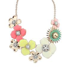 gold plated statement necklace images 18k gold plated flower statement necklace jpg
