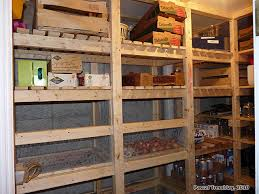 Build Wooden Shelf Unit by Canning Storage Build Food Storage Shelves Cold Storage Unit