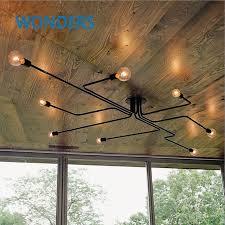 wrought iron flush mount lighting retro industrial loft nordic pipe wrought iron ceiling light lustre