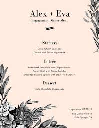 menu design for dinner party elegant dinner party menu gidiye redformapolitica co