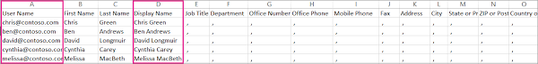 Multi User Spreadsheet Add Several Users At The Same To Office 365 Admin Help