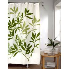 Green And Brown Shower Curtains Green Leaves Stall Size Fabric Shower Curtain Bedbathhome Com