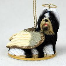 shih tzu figurines ornament black white