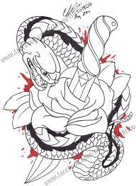 snake and dagger by chrisnettletattoo on deviantart