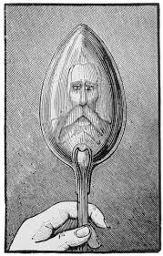 drawn spoon reflection pencil and in color drawn spoon reflection