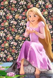 rapunzel flowery wallpaper disney
