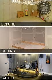 cool basement designs before u0026 after one really cool basement remodeling project home