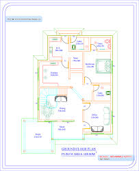 Kerala Home Design And Elevations by Ground Sqft Bedroom Kerala House Plan Stupendous Home And