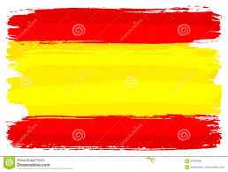 Spanish Flag Spanish Flag Painted With Brush Strokes Stock Vector