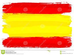 Spainish Flag Spanish Flag Painted With Brush Strokes Stock Vector