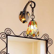 Mediterranean Wall Sconces End Stained Glass Manual Designer Wall Sconces Lighting