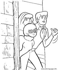 scooby doo printable coloring pages fred velma and daphne hiding scooby doo 8d66 coloring pages printable