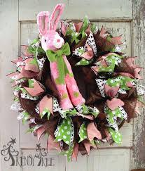 raz easter decorations tutorial chocolate deco paper mesh wreath with raz pink