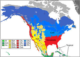 us climate map köppen geiger k g climate zones for the united states adapted