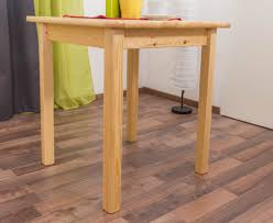 dining table 002 solid pine wood clearly varnished h75 x w70 x