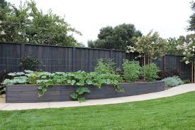 new york vegetable garden fence landscape modern with wooden