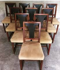 dining room vintage french art deco dining chairs 1930s set of 6