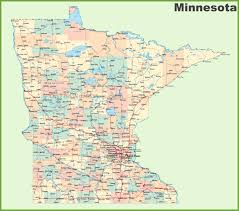 Washington State County Map by Road Map Of Minnesota With Cities