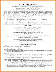Handyman Resume Sample by 7 Financial Analyst Cv Example Financial Statement Form
