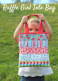 ruffle girl clover violet ruffle girl tote bag tutorial featuring