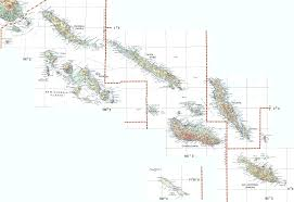 Solomon Islands Map The Solomon Islands From West To East
