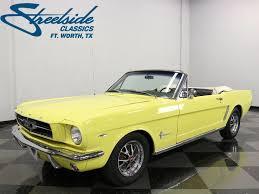 1965 yellow mustang 1965 ford mustang streetside classics car