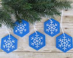 Wooden Christmas Decorations Bulk by Set Of 6 Snowflake Wood Cutouts Filigree Style Lasercut Diy