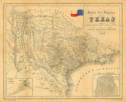 State Map Of Texas by 1849 Map Of Texas Old Texas Map Texas Map Of Texas Vintage