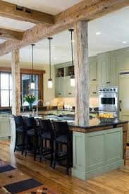 kitchen rustic kitchen brown exposed beam l shaped kitchen