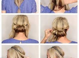 Frisuren Selber Machen Haarband by Romantische Eindrehfrisur Mit Haarband Selber Machen Neuefrisur