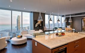 Modern Pendant Lighting For Kitchen Contemporary Pendant Lighting On Kitchen With Brown Countertop