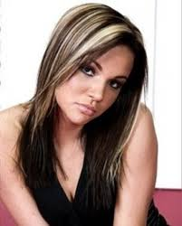 partial red highlights on dark brown hair brown hair with blonde hightlights photo color hair light blonde