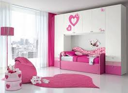pink color combination design ideas for modern white girls bedroom with pink color scheme