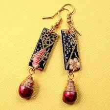 decoupage earrings decoupage earrings search decoupage earring ideas