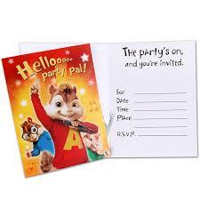 unique ideas for alvin and the chipmunks birthday invitations