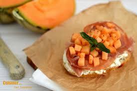 cuisiner simplement tartine féta jambon melon cuisiner tout simplement le