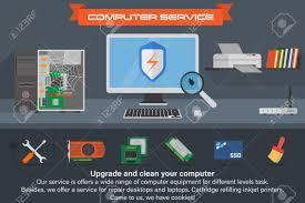 recherche ordinateur de bureau service informatique bannière exécution du processus de recherche