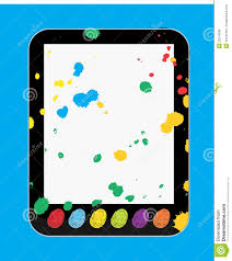 art and craft tablet pc for kids and children royalty free stock