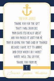 baby shower thank you cards nautical baby shower thank you card you print 4x6 or 5x7