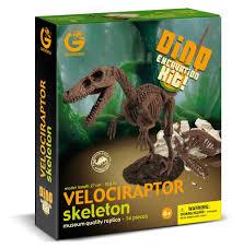 amazon com geoworld dino excavation kit velociraptor skeleton