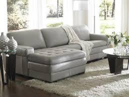 Grey Leather Sofa Sectional Amazing Gray Leather Sofa El Dorado Furniture Throughout Grey