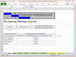 Bom Template Excel Capacity Planning Tool Excel Template For Production