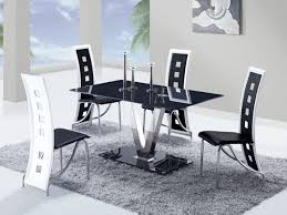 Dining Chairs Black And White Pueblosinfronterasus - Black and white dining table with chairs