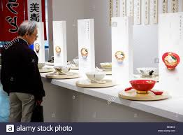 january 14 2015 tokyo japan a man looks at the various noodle