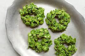no bake holiday recipe matcha wreath cookies entertaining idea