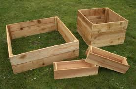 cedar garden box planter boxes standing height cedar raised
