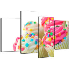 canvas pictures of cupcakes in pink for your dining room