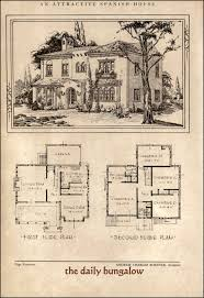 Spanish Colonial Architecture Floor Plans Andrew Charles Borzner 1928 Beautiful Homes House Architecture