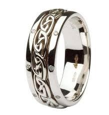celtic knot wedding bands claddagh celtic knots pave diamond set gents white gold wedding