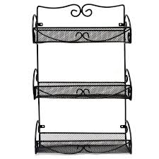 Spice Rack Storage Organizer Spice Rack And Multi Purpose Organizer 3 Tier Wall Mounted